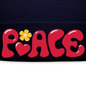 3-D Peace. Hart en bloem - Love & Happiness T-shirts - Wintermuts