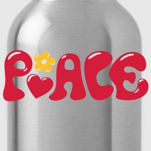 Peace sign Heart flowers Love Happiness T-Shirts - Water Bottle