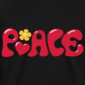 3-D Peace. Hart en bloem - Love & Happiness Sweaters - Mannen Premium T-shirt