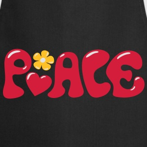3-D Peace. Heart and flower - Love & Happiness Gensere - Kokkeforkle