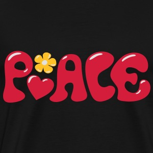 3-D Peace. Heart and flower - Love & Happiness Sudadera - Camiseta premium hombre
