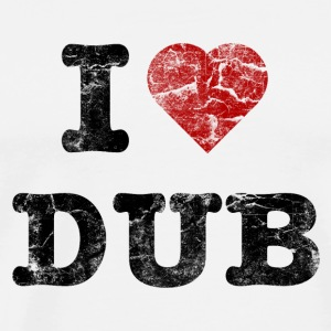 I Love DUB vintage dark Kopper og flasker - Premium T-skjorte for menn