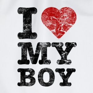 I Love my Boy vintage dark Partner T-Shirts - Turnbeutel