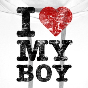 I Love my Boy vintage dark T-skjorter - Premium hettegenser for menn