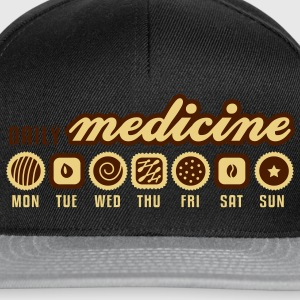 Black Daily medicine of chocolate  Aprons - Snapback Cap