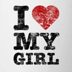 I Love my Girl vintage dark Kasketter & Huer - Kop/krus