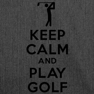 keep calm and play golf Sweat-shirts - Sac bandoulière 100 % recyclé