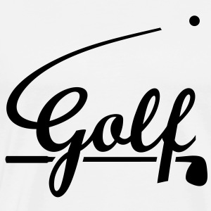 Volant Golf Ball. golfeur. Une balle de golf. Sweat-shirts - T-shirt Premium Homme