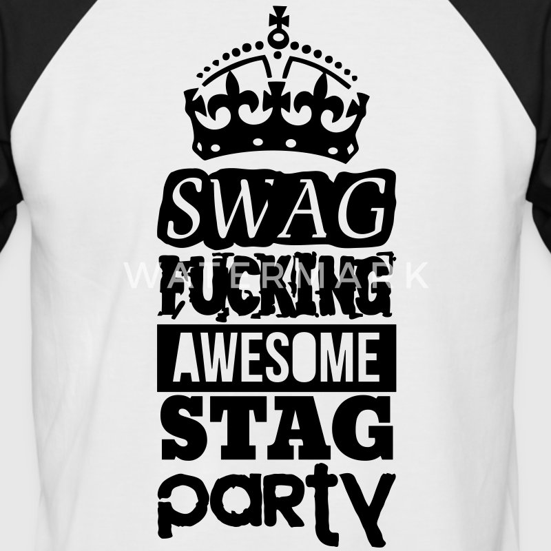 SWAG AWESOME STAG PARTY Camisetas - Camiseta béisbol manga corta hombre