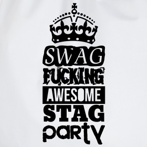 SWAG AWESOME STAG PARTY T-shirts - Sportstaske