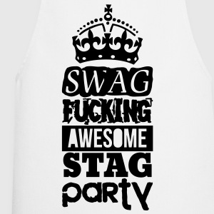 SWAG AWESOME STAG PARTY T-shirts - Keukenschort