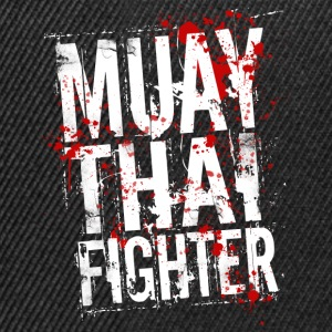 Muay Thai fighter blanc Sweat-shirts - Casquette snapback