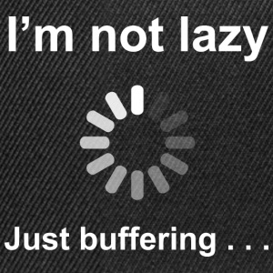 I'm Not Lazy - I'm Buffering (White) Bags  - Snapback Cap
