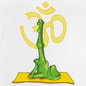 The frog practices the shoulder stand and sing OM Shirts - Baby T-Shirt
