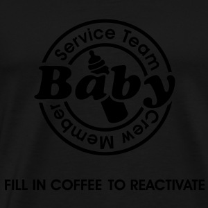 Service Team Baby. Fill in Coffee to reactivate.  Gensere - Premium T-skjorte for menn