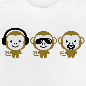 modern hipster three monkeys Pullover & Hoodies - Baby T-Shirt