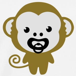 monkey with soother Gensere - Premium T-skjorte for menn
