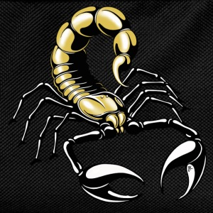 scorpion - gold - yellow - Kids' Backpack