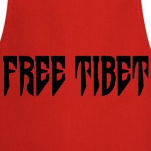 Free Tibet. International Independence Movement T-shirts - Forklæde