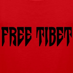 Free Tibet. International Independence Movement T-shirts - Herre Premium tanktop