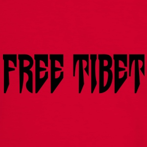 Free Tibet. International Independence Movement Vesker - Kontrast-T-skjorte for menn