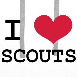 I Love Scouts T-Shirts - Männer Premium Hoodie