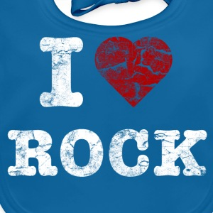 I Love Rock vintage light T-shirts - Baby økologisk hagesmæk