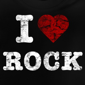 I Love Rock vintage light T-shirts - Baby T-shirt