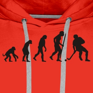 Red Evolution of field hockey Men's Tees - Men's Premium Hoodie