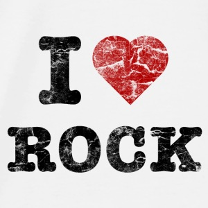 I Love Rock vintage dark Accessories - Herre premium T-shirt