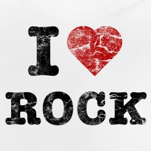 I Love Rock vintage dark Shirts - Baby T-Shirt