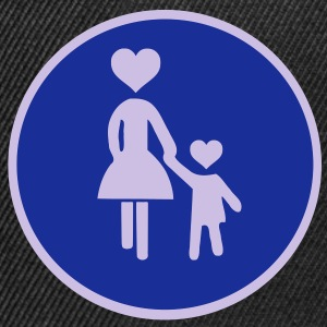 Traffic sign pedestrian woman with child 2 c. Shirts - Snapback Cap