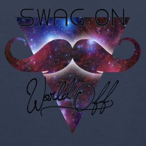 world off swag on Väskor - Premiumtanktopp herr