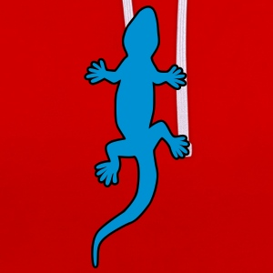 Gecko T-Shirts - Contrast Colour Hoodie