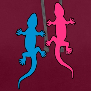 Gecko Love T-Shirts - Contrast Colour Hoodie