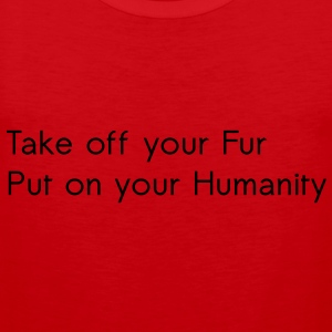 Take off your Fur T-shirts - Premiumtanktopp herr