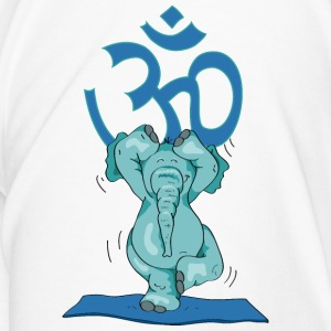 The elephant practice the tree and sings OM Bottles & Mugs - Men's Premium T-Shirt