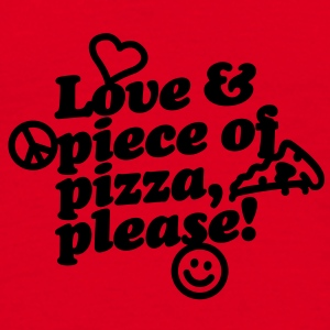 Love & piece of pizza, please Taschen - Männer T-Shirt