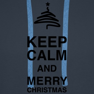 Keep Calm and merry Christmas Tee shirts - Sweat-shirt à capuche Premium pour hommes