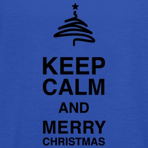 Keep Calm and merry Christmas Tee shirts - Débardeur Femme marque Bella