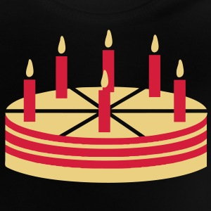Cake with 6 candles - V2 Shirts - Baby T-Shirt