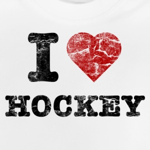I Love Hockey vintage dark T-shirts - Baby-T-shirt