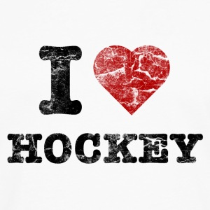 I Love Hockey vintage dark Sweat-shirts - T-shirt manches longues Premium Homme