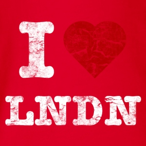 I Love LoNDoN vintage light T-shirts - Ekologisk kortärmad babybody