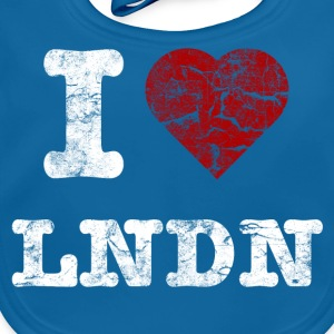 I Love LoNDoN vintage light Tee shirts - Bavoir bio Bébé