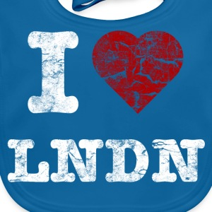 I Love LoNDoN vintage light T-Shirts - Baby Bio-Lätzchen