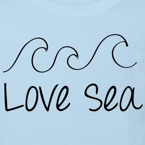 Love Sea Baby Langarmbody Blau - Kinder Bio-T-Shirt