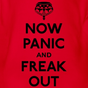 Now panic and freak out (Keep calm and carry on) Shirts - Baby bio-rompertje met korte mouwen