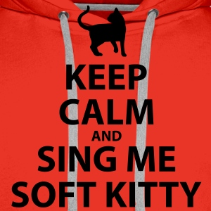 Keep Calm and Sing Me Soft Kitty - Men's Premium Hoodie