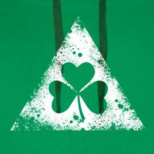 like a irish st. patricks day hipster triangle Tee shirts - Sweat-shirt à capuche Premium pour hommes